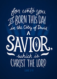 Unto You a Savior 5x7 Folded Card