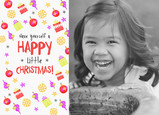 Happy Little Christmas 7x5 Flat Card