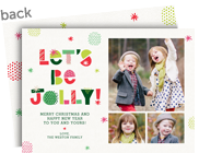 Let's Be Jolly - Multi-photo 7x5 Flat Card