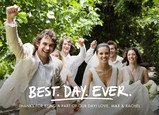 Best. Wedding. Ever. Postcard 7x5 Postcard