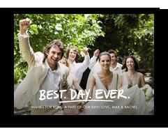 Best. Wedding. Ever. Postcard 7x5 Postcard