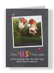 I Love Us 5x7 Folded Card