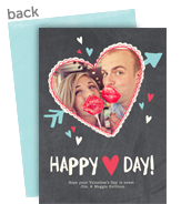 Heart Day Chalkboard 5x7 Flat Card