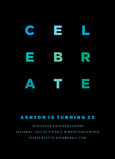 Celebrate in Blue 5x7 Flat Card