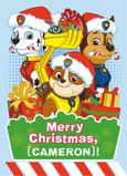 Paw Patrol - Deck the Halls 5x7 Folded Card