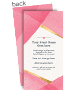 Geometric Watercolor Invitation 4x8 Flat Card