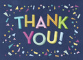 Thank You Confetti on Blue 5.25x3.75 Folded Card
