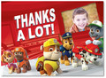 Paw Patrol Thank You 5.25x3.75 Folded Card