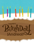 Kraft Paper Birthday Cake 5x7 Folded Card