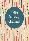 Birthday Candle Pattern 5x7 Folded Card