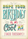 Birthday Cool 5x7 Folded Card