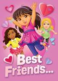 Dora - Best Friends 5x7 Folded Card