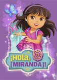 Dora - Butterflies on Purple 5x7 Folded Card