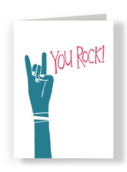 You Rock 5x7 Folded Card