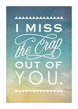 Missin' You 5x7 Folded Card