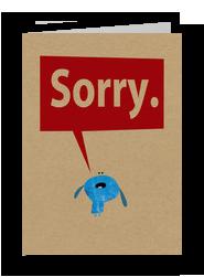 Pretty Sorry 5x7 Folded Card