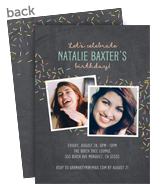 Confetti Invitation 5x7 Flat Card