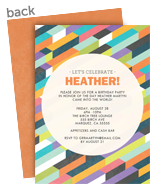 Colorful Geo Pattern 5x7 Flat Card