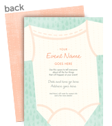 Onesie Invitation 5x7 Flat Card