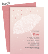Umbrella Pattern on Pink 5x7 Flat Card