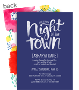 Night on the Town Invitation 5x7 Flat Card