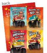 Valentine Monster Trucks 5x7 Flat Card