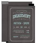 Chalkboard Engagement Invitation 5x7 Flat Card