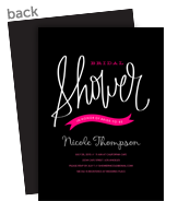 Bridal Shower - Pink Banner 5x7 Flat Card