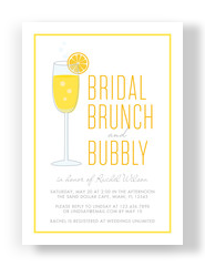 Bridal Brunch - Yellow Border 5x7 Flat Card