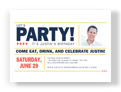 Let's Party! - Block Design 7x5 Flat Card