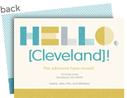 Hello, New City! Mustard and Teal 7x5 Flat Card