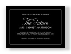 The Future Mrs. - Black 7x5 Flat Card
