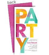 Colorful Party Pattern - Pink 4x8 Flat Card