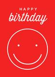 Birthday Smile 5x7 Folded Card