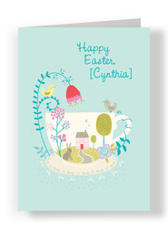 Easter Across the Miles 5x7 Folded Card