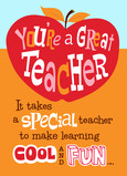For a Special Teacher 5x7 Folded Card