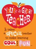 For a Special Teacher 5x7 Folded Card