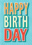 Birthday Burst 5x7 Folded Card
