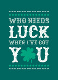 Lucky with You 5x7 Folded Card