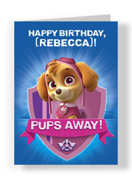 Paw Patrol Birthday - Skye 5x7 Folded Card