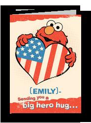 A Big Hero Hug 5x7 Folded Card