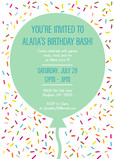 Invitation with Confetti 5x7 Flat Card