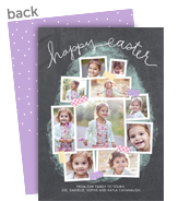 Easter Chalkboard Photo Collage 5x7 Flat Card