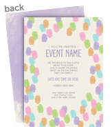 Invitation with Watercolor Egg Pattern 5x7 Flat Card