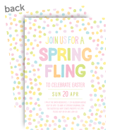 Spring Fling Invitation 5x7 Flat Card