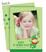 Leprechaun with Photo 5x7 Flat Card