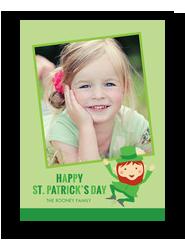 Leprechaun with Photo 5x7 Flat Card