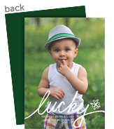Lucky Script Overlay 5x7 Flat Card