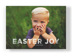 Easter Joy Overlay 7x5 Flat Card