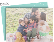 Script Happy Easter Overlay 7x5 Flat Card